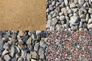 Песок, щебень, земля, пгс
